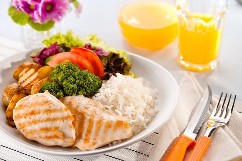 Aprenda como montar um prato saudável na sua refeição