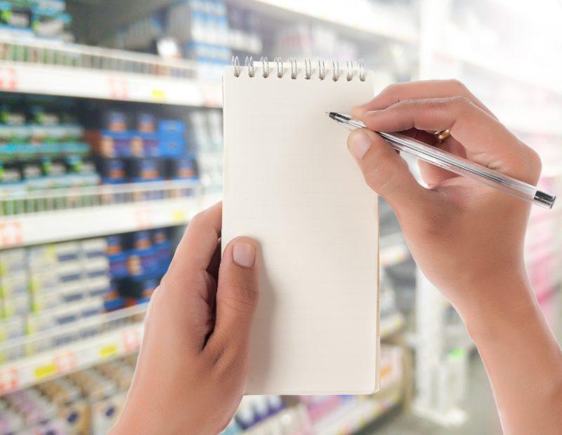 compras no supermercado: por mês ou por semana